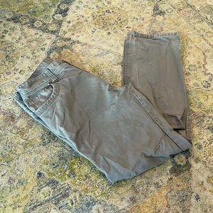 ❄️ Eddie Bauer Grey Cotton Hiking Pants 34/32